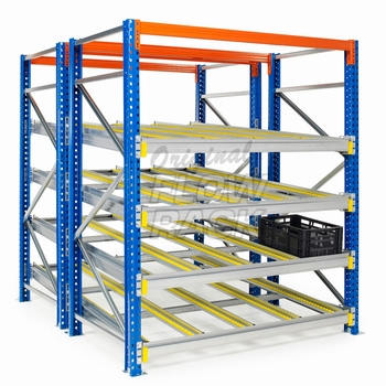 Flow shelves CBL-version for pallet racks double depth