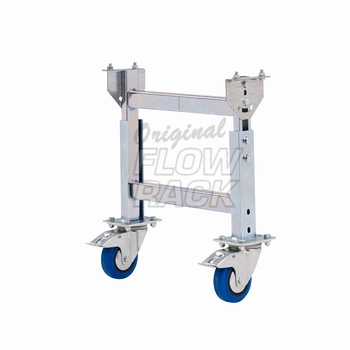 Mobile H-stand roller conveyor