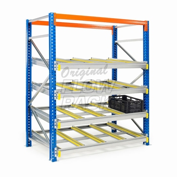 Flow shelves CBL-version for pallet racks single depth