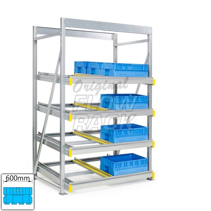 Flow rack KLT-version bay width 1390 mm