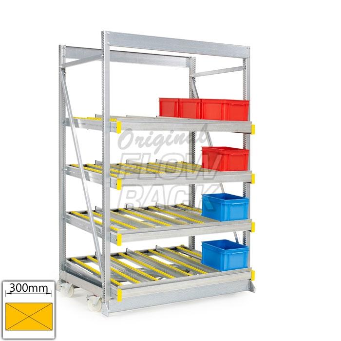 Kanban mobile rack bay width1390 mm