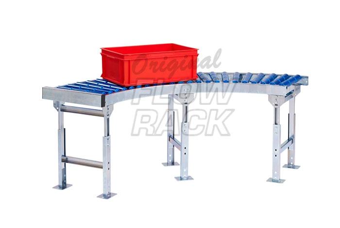 Roller conveyor curve 90°