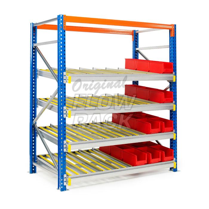 Retrofit flow rack pallet storage disadvantage